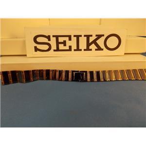 Seiko WatchBand PTQ121 P Bracelet Black and Gold Tone Ladies Watchband 12mm