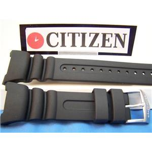 Citizen Watch Band JV0000-10, JV0010-08 Black Resin Strap. Watchband