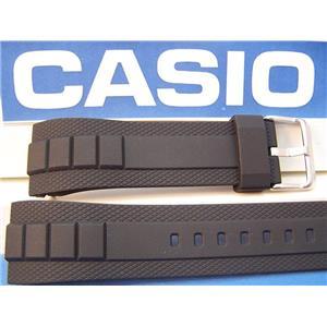 Casio Watch Band MTF-E001 & MTF-E002 Black Resin Original Watchband Strap