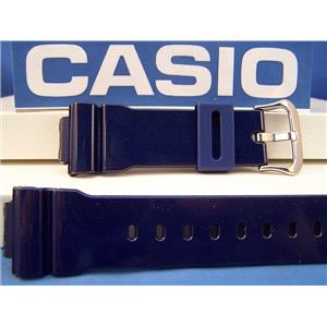 "Casio Watch Band DW-6900 CC-2 Shiny ""Metallic"" blue Resin G-Shock Strap"