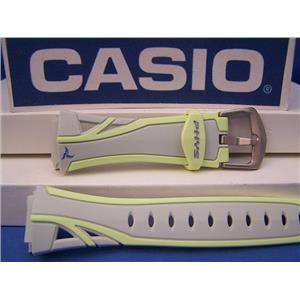 Casio Watch Band STR-200 -7B Gray/Yellow PHYS Watchband - Strap