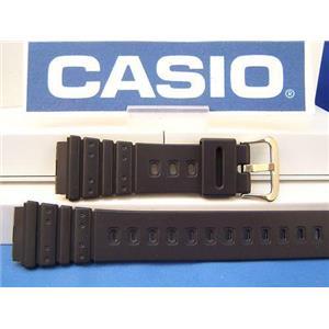 Casio Watch Band AQ-100, MRD-201 black Resin gold tone buckle