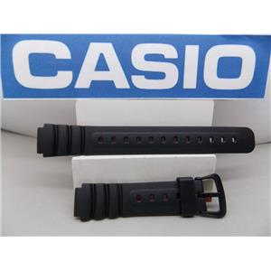 Casio watch band LW-22 Lady 14mm black Resin sport watchband with spring bars