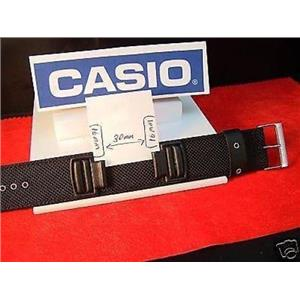 Casio Watch Band DW-5600 B, G-353 B.1  Piece Black Fabric Strap For 16mm Watches