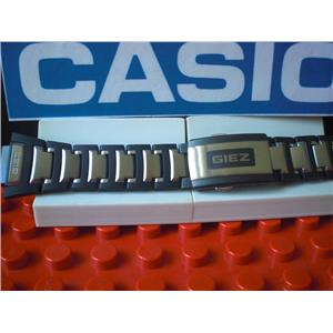 Casio Watch Band GS-1300 GIEZ Bracelet Steel/Black Resin w/Push Button Buckle