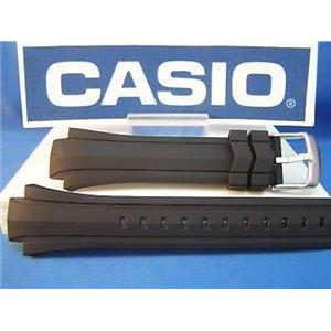 Casio watch band EF-514 Edifice  Black Resin w/pins