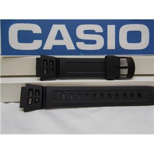 Casio Watch Band AQ-S800 Black Resin Strap Watchband for Tough Solar 5 Alarm
