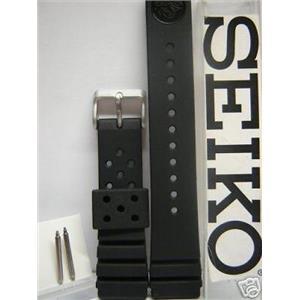 Seiko WatchBand.Genuine Seiko Divers Band 22mm w/Original Heavy Duty Spring Bar