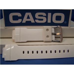 Casio Watch Band AW-591 SC-7 Shiny White Resin Strap For Digital Analog G-Shock