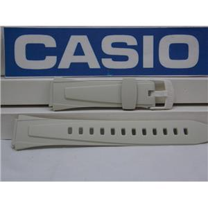 Casio Watch Band W-734 -7 Off White Lap Memory 60 Watchband Strap 678 ET1 18