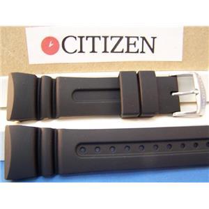 Citizen Watch Band JV0020 -12f Eco Drive 20th Anniversary blk Metric Diver Strap
