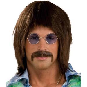 60's Singer Brown Wig Sonny Retro Hippie