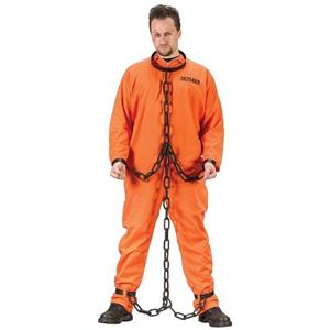 Chain Gang Links Prisoner Convict Jailbird Accessory