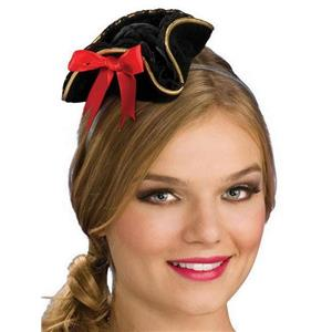 Black Mini Sexy Pirate Buccaneer Hat