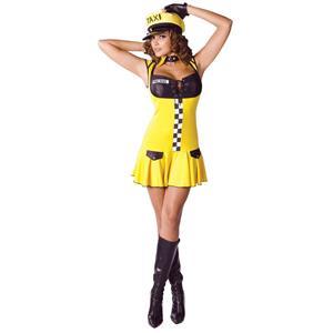 Cute Sexy Cabbie Cab Driver Adult Costume 2-8 Small/Medium