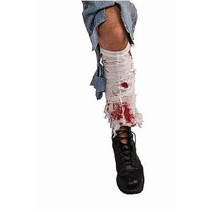Bloody Leg Bandage Wound Zombie Costume Accessory Gag Prank Joke Prop