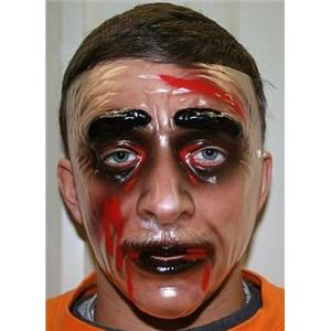 Transparent Zombie Male Adult Plastic Mask