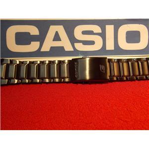 Casio Watch Band EFA-131 D. Black PVD Steel Edifice Bracelet. Black Metal Band