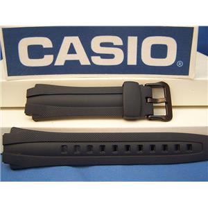 Casio Watch Band AQ-163 W-2, AQ-161 -2. Dark Blue Rubber Strap. Watchband