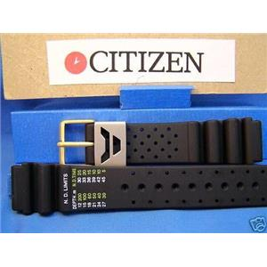 Citizen Watch Band Aqualand 19mm Diver Style w/Steel/Gold Tone Hardware