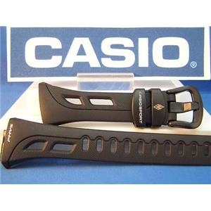 Casio Watch Band RFT-100 Soccer Refs  black Resin Strap
