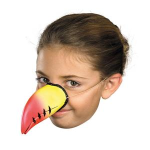 Latex Rubber Toucan Costume Nose on Elastic Band