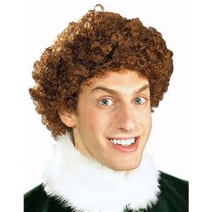 The Elf Movie Buddy the Elf Brown Afro Wig