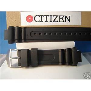 Citizen Watch Band BN0016. Original Pro Diver Eco-Drive Black Rubber Strap