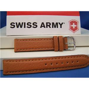 Swiss Army Watch Band Cavalry Pig Skin 19mm Mans Strap With Steel buckle