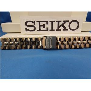 Seiko WatchBand SDWF17P Black and Gold Tone Bracelet w/Fold Safety Clasp buckle