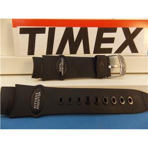 Timex Watch Band Fitness Monitor Digital Transmission Black Rub Strap - Last One