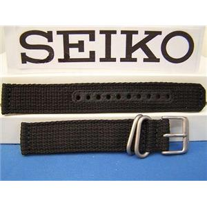 Seiko WatchBand SNK809 2ply Fabric w/Steel buckle 18mm black