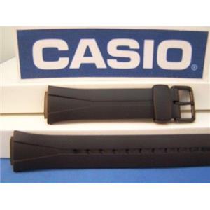 Casio Watch Band WL-S21 Tough Solar Black Resin Strap