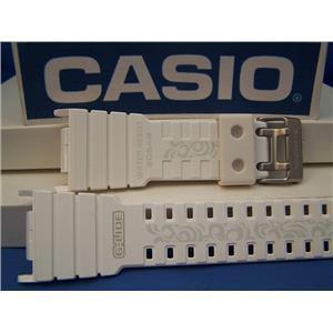 Casio Watch Band GLX-5500 -7 G-Lide Shiny white G-shock Watchband-Strap w/Graphics