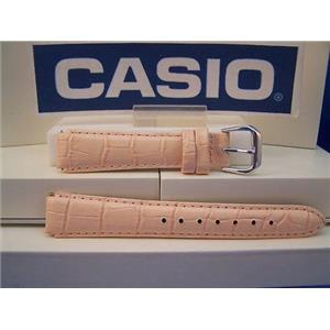 Casio Watch Band LAW-20 L-4 Ladies Pink Leather Strap