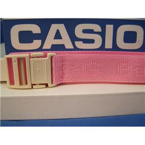 Casio Watch Band BG-152 -V4 Pink Double Wrap NylonGrip Baby G File w/Snap buckle