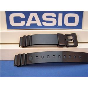 Casio Watch Band LRW-200 Polished Shiny Black Resin Strap 14mm Ladies.Watchband
