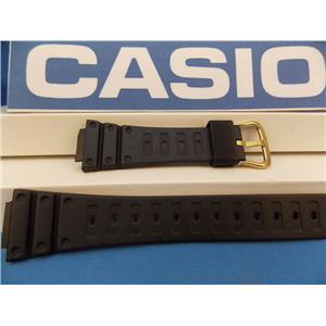 Casio Watch Band DW-500 Gold Tone buckle Original ladies G-Shock Black Resin Strap