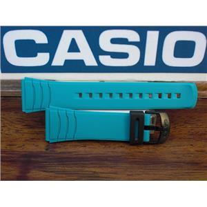 Casio Watch Band DBC-32  Data Bank Turqoise/Aqua Rubber Strap 22mm