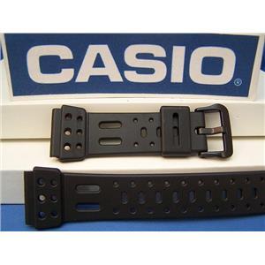Casio Watch Band SDB-610 Dark Gray Rubber Lap-10 Memory Watchband -Strap