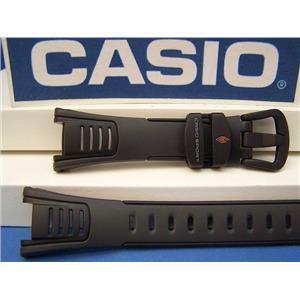Casio Watch Band STP-100 J-1B Casio Walking and Calorie Black  Watchband -Strap