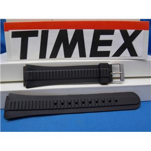 Timex Watch Band Unknown Style Original New Black Resin Strap 18mm