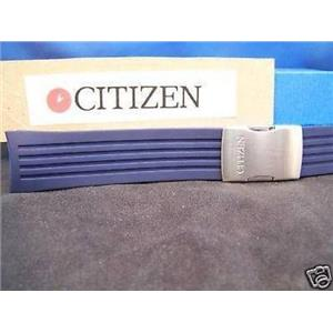 Citizen Watch Band JY0000.Skyhawk Blue Resin Steel Push Button Buckle. Strap