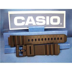 Casio Watch Band ARW-320, AQ-130. Black Resin Strap For Alti-Depth Digital Analog