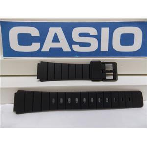Casio watch band MQ-61 16mm Black Resin, Watchband, Sport Strap for 16mm Watch