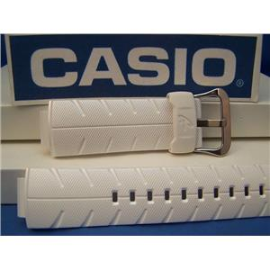 Casio Watch Band G-300 LV-7 White Resin G-Shock Watchband - Strap