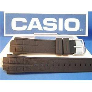 Casio Watch Band MTD-1057, MDV-501 Black Resin Strap Steel buckle w/Attch Pins