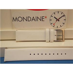 Mondaine Swiss Railways Watch Band FE3118 White 18mm wide Leather Strap