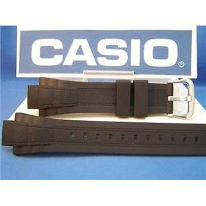 Casio Watch Band MDV-301 Black Resin Strap With Attaching Pins