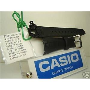 Casio watch band G-3011, G-3000, G-3001, G-3010 G-Shock Black Resin Strap